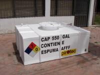 Tanque cuadrado diseñado para Pirotec